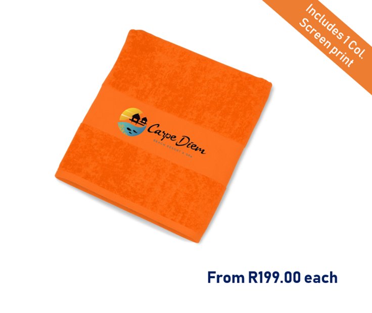 Branded beach towel south africa